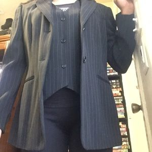 ❄️ANN TAYLOR black vest&blazer